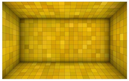 subdivision: empty futuristic room with yellow walls and subdivision