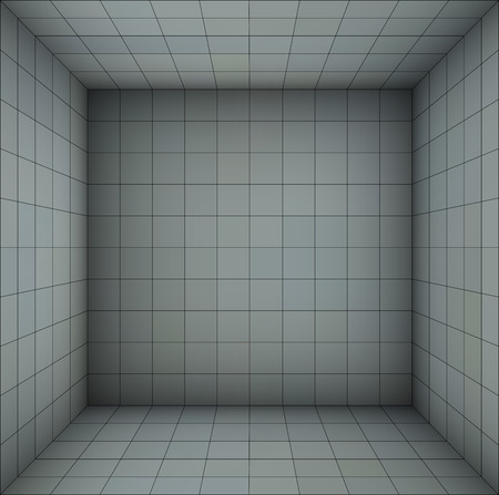 subdivision: empty futuristic room with blue gray walls and subdivision