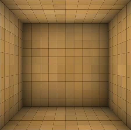 subdivision: empty futuristic room with brown beige walls and subdivision Illustration