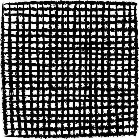 striping: irregular black stripe grid pattern over white