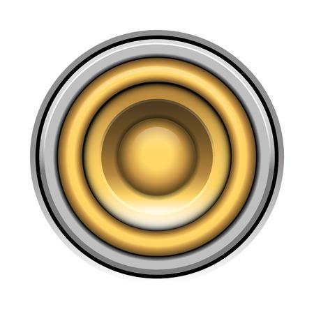 soundsystem: sound-system speaker vector  illustration icon over white