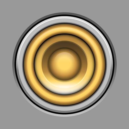 altavoz icono de ilustración vectorial sobre gris-sistema de sonido