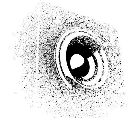 spray paint template sound system grunge effect Illustration