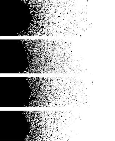 splash: spray paint banner detail in black over white