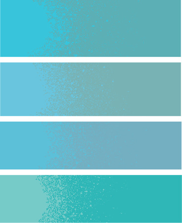 paint drop: spray paint gradient detail in light blue