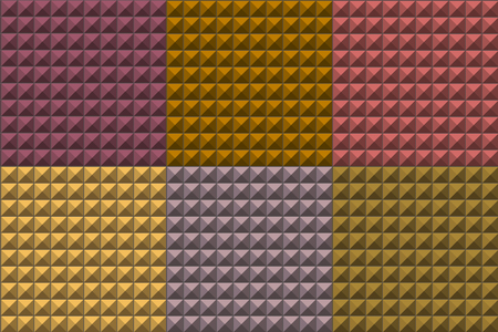 seamless pyramid tiles pattern in multiple colors