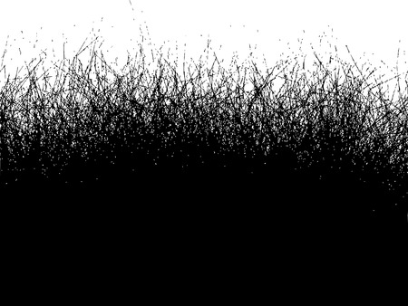 coiffeur: Fur hair grass gradient in black over over white Illustration
