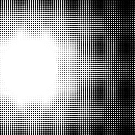 luminance: radial light effect gradient in halftone style