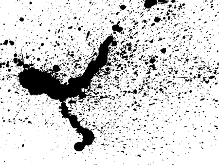 black white: graffiti paint splatter pattern in black over white