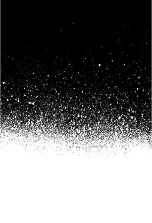 vandalism: spray painted gradient detail in white over black Illustration