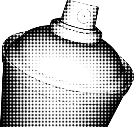 exterminate: spraycan halftone shading in black and white
