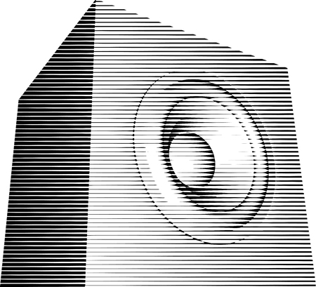 striped sound-system speaker illustration icon in black and white