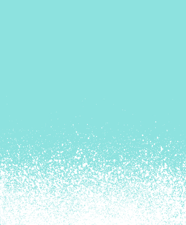 blizzards: graffiti sprayed winter floating snow with blue background Illustration