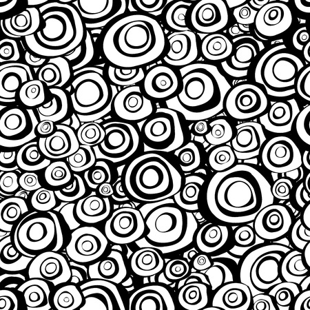 circulos concentricos: espiral loops c�rculos conc�ntricos de fondo en blanco y negro Vectores