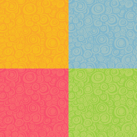 multiple: seamless loop spiral patterns in multiple color