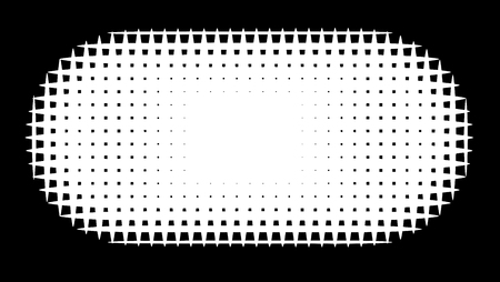 luminance: grid pill shape in graphical black and white hatch