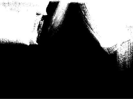 painter decorator: white brush stroke element on black background Illustration