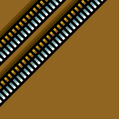 steel techno tubes pattern with an orange backlight Ilustração