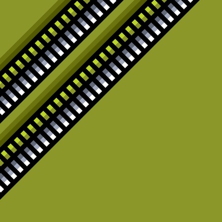 backlight: steel techno tubes pattern with an green backlight