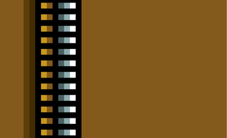 steel industry: steel techno tubes with an orange light on brown