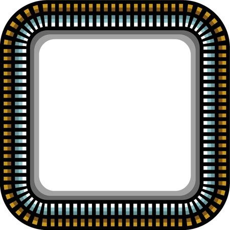 round corner: steel techno round corner frame with shadow over white