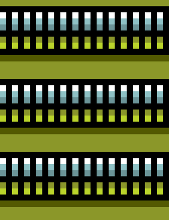 seamless steel techno tubes with a green light on green
