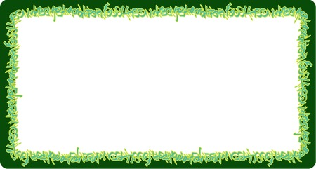 square rounded frame green neon graffiti tags on green