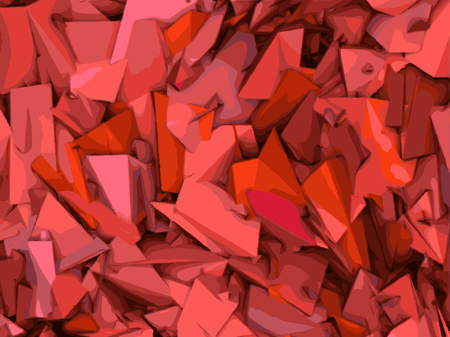 exploded: abstract shape backdrop  pattern in pink and red
