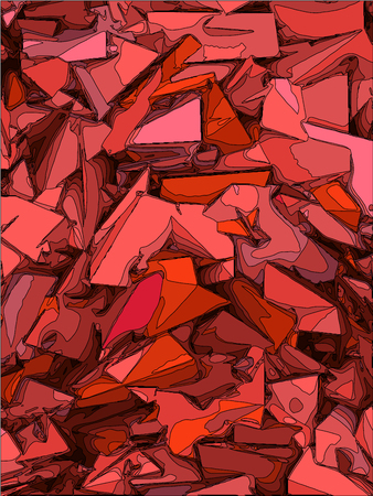 fragmentation: abstract  chaotic background in pink and red