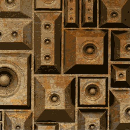 soundsystem: composition grunge old rusty speaker sound system
