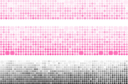 pink and black: pink black gradient banner made with circle and rounded square Illustration