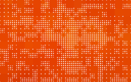 rounded squares: orange background made with circles and rounded squares Illustration