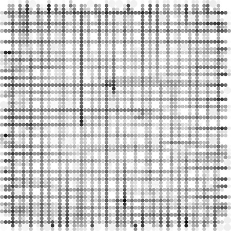 varied: grid made with grayscale bubble pattern over white