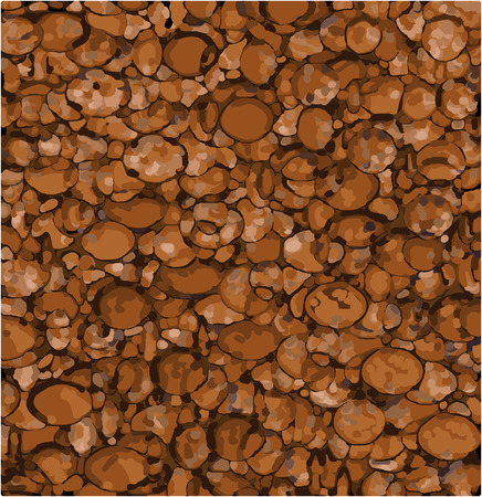 varied: abstract background made with mixed orange brown shapes