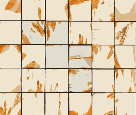 multiple abstract combined orange beige tile backdrop Illusztráció
