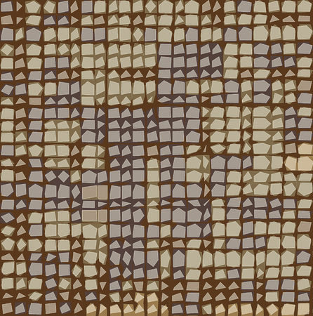 irregular grid tiled pattern in brown lavender beige Illusztráció