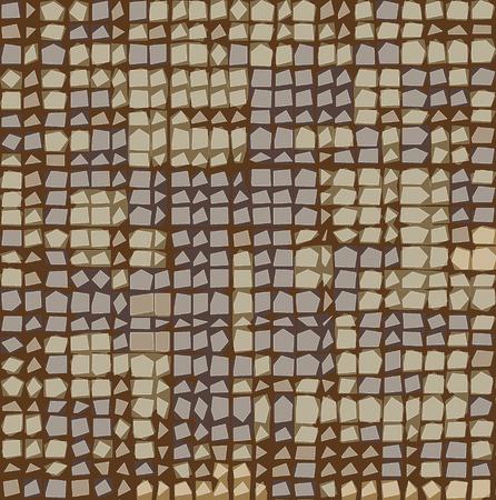 varied: irregular grid tiled pattern in brown lavender beige Illustration