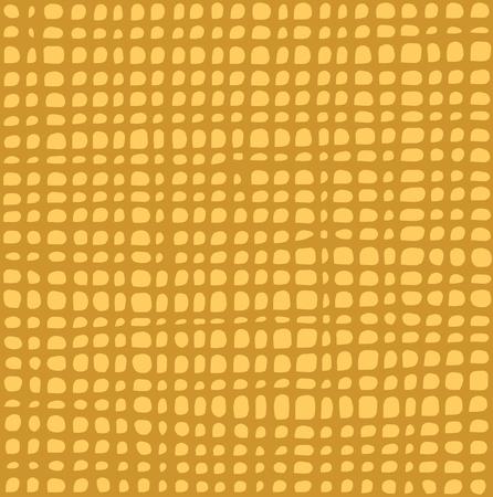 varied: irregular grid tiled pattern in yellow over orange Illustration