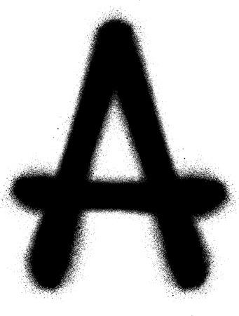 sprayed: sprayed A font graffiti in black over white Illustration