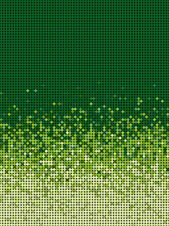 grouping: bubble gradient pattern in green and yellow