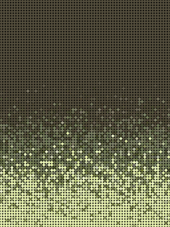 varied: bubble gradient pattern in green brown and yellow