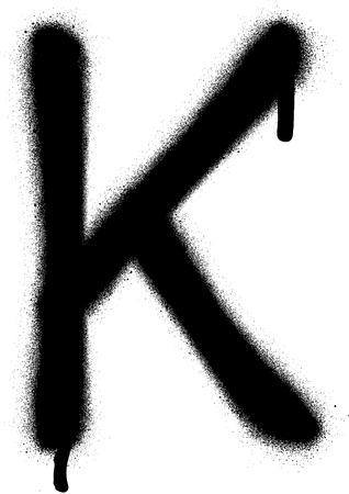 the leak: sprayed K font graffiti with leak in black over white