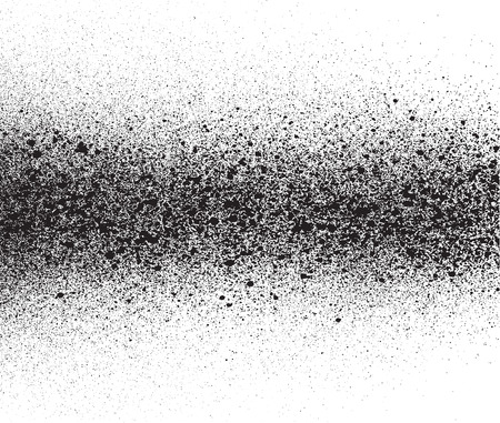 spray painted gradient detail in black over white Illustration