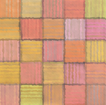 striped mixed patchwork blurry square pattern background Imagens - 64302331