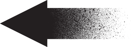 Graffiti sprayed gradient arrow in black over white Illustration