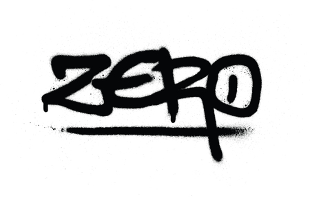 graffiti zero tag in black over white