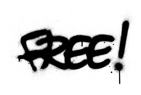 Graffitifreies Wort in Schwarz über Weiß gesprüht