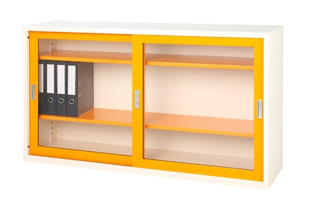 office cabinet: Cabinet tainless steel office or factory furniture isolates on white
