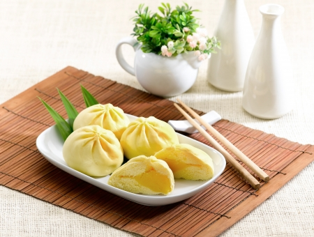 Dumpling with cream a great taste of Chinese food style Stock Photo - 15671426