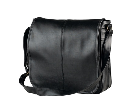 haversack: Nice and smart haversack bag in black color made of genuine leather